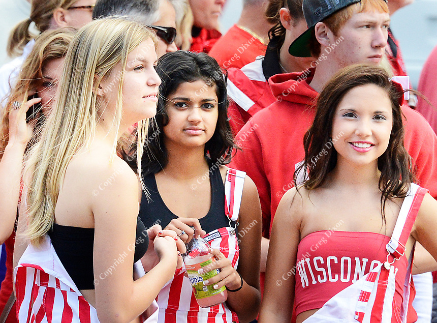 UW students gather for homecoming on Saturday, October 12, 2013 in Madison, Wisconsin