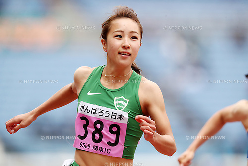 Anna Fujimori (),<br /> MAY 20, 2016 - Athletics : The 95th Kanto University Athletics Championship Women's 100m Semi-Final at Nissan Stadium, Kanagawa, Japan. (Photo by AFLO SPORT)