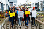 Protest at the closing of Tralee Women's Resource centre on Wednesday.