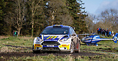 10th February 2019, Galway, Ireland; Galway International Rally; Alastair Fisher and Gordon Noble (Ford Fiesta R5) finish in 2nd place overall, 14.4 seconds behind WRC stars Craig Breen and Paul Nagle