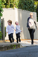 Cate Blanchett picks up the kids from School