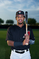 AZL Diamondbacks Eddie Hernandez (2) poses for a photo before a game against the AZL Padres 2 on August 29, 2017 at Salt River Fields at Talking Stick in Scottsdale, Arizona. AZL Diamondbacks defeated the AZL Padres 2 4-3. (Zachary Lucy/Four Seam Images)