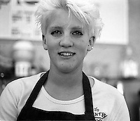 Naomi White working at Country Scoop, 1987.  &#xA;<br />