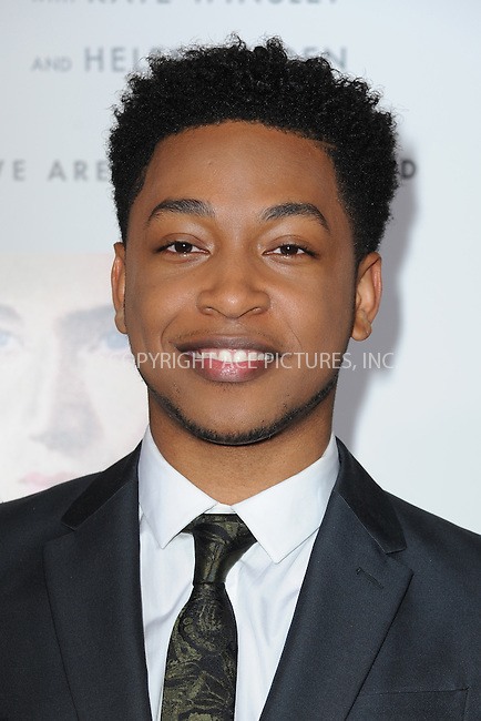 www.acepixs.com<br /> December 12, 2016  New York City<br /> <br /> Jacob Latimore attending the 'Collateral Beauty' World Premiere at Frederick P. Rose Hall, Jazz at Lincoln Center on December 12, 2016 in New York City.<br /> <br /> <br /> Credit: Kristin Callahan/ACE Pictures<br /> <br /> Tel: 646 769 0430<br /> Email: info@acepixs.com