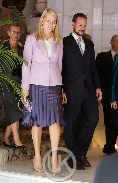 Crown Prince Haakon & Crown Princess Mette-Marit of Norway visit India. Attending Business & Tourism Seminars at the Taj Mahal Hotel in New Delhi.