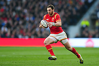 George North of Wales in possession. RBS Six Nations match between England and Wales on March 12, 2016 at Twickenham Stadium in London, England. Photo by: Patrick Khachfe / Onside Images