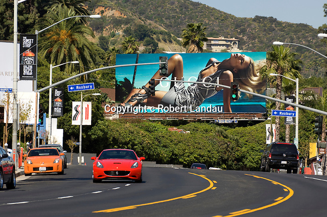 Billboard on the Sunset Strip in Los Angeles