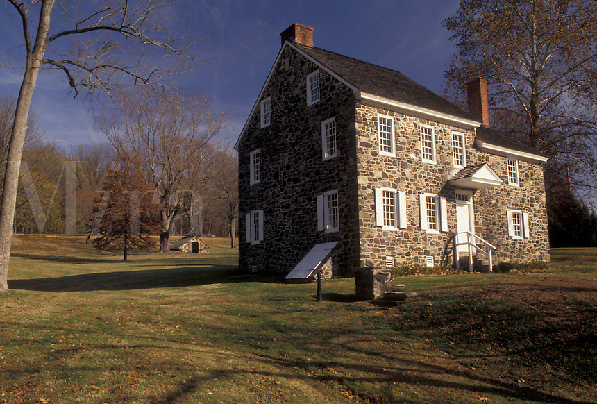 AJ3242, Brandywine River Valley, Washington's Headquarters, Brandywine Battlefield, Pennsylvania, Washington's Headquarters is an early 18th century stone house at Brandywine Battlefield Park in Chadds Ford in the state of Pennsylvania.
