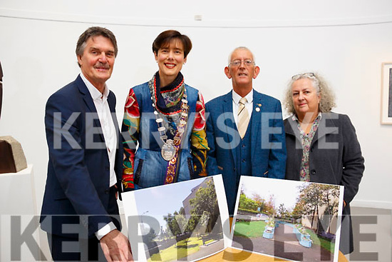 Paul Hanratty, Mayor of Tralee Norma Foley, Chairman of Tralee Tidy Towns Committee Cllr Sammy Locke and Caroline Smith at the official launch of the Garden of Contemplation.