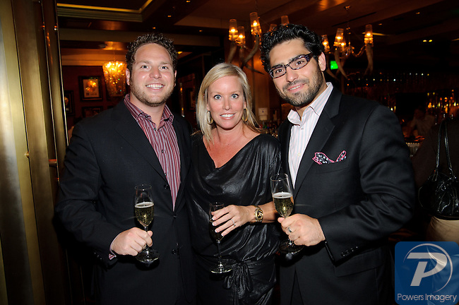 Nyman Brothers, and Jennifer Dunne at Gold Lounge inside Aria to welcome Abby Tegnelia as new editor in cheif of VEGAS Magazine, September 15, 2010, Las Vegas, NV. (c) Al Powers / VEGAS Magazine