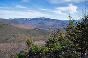 Scenic views of the Pemigewasset Wilderness from the Osseo Trail during the autumn months in Lincoln, New Hampshire USA.
