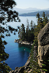 Cliffs and Lake Tahoe in morning at D.L. Bliss State Park