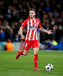 Atletico Madrid's Saul Niguez in action during the Champions League Group C match at the Stamford Bridge, London. Picture date: December 5th 2017. Picture credit should read: David Klein/Sportimage
