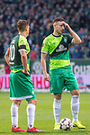 10.02.2019, Weser Stadion, Bremen, GER, 1.FBL, Werder Bremen vs FC Augsburg, <br /> <br /> DFL REGULATIONS PROHIBIT ANY USE OF PHOTOGRAPHS AS IMAGE SEQUENCES AND/OR QUASI-VIDEO.<br /> <br />  im Bild<br /> Max Kruse (Werder Bremen #10)<br /> Kevin Möhwald / Moehwald (Werder Bremen #06) beim Freistoss<br /> <br /> <br /> Foto © nordphoto / Kokenge