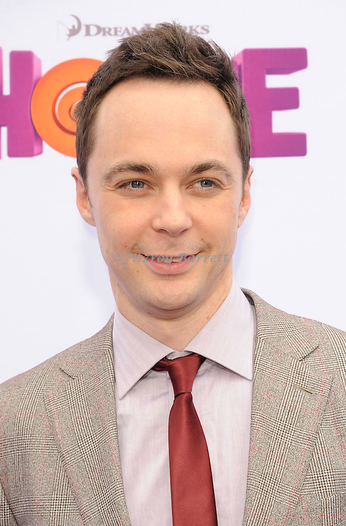 Jim Parsons arriving at the Los Angeles premiere of Home, held at Regency Village Theater on March 22, 2015