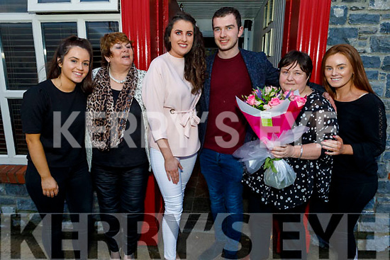Karen Lonergan (Best Dressed Lady) and Seamus Bastible (Best Dressed Man in Linnanes Bar enjoying the Cheltenham Gold Cup day on Friday.<br /> L to r: Abina Linnane, Karen Lonergan Shannon Daly, Seamus Bastible, Mary McCole, Grainne Linnane.