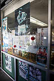USA, Oahu, Hawaii, front window of a boxing and Martial Arts gym with a poster of Muhammad Ali