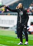 ***BETALBILD***  <br /> Solna 2015-05-31 Fotboll Allsvenskan AIK - Helsingborgs IF :  <br /> Helsingborgs tr&auml;nare manager Henrik Larsson reagerar under matchen mellan AIK och Helsingborgs IF <br /> (Foto: Kenta J&ouml;nsson) Nyckelord:  AIK Gnaget Friends Arena Allsvenskan Helsingborg HIF portr&auml;tt portrait tr&auml;nare manager coach Henke