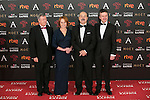 Porfirio Enriquez, Gracia Querejeta, Antonio Resines and Edmon Roch attend 30th Goya Awards red carpet in Madrid, Spain. February 06, 2016. (ALTERPHOTOS/Victor Blanco)