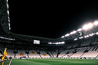 A general view of the empty stadium prior to the Serie A football match between Juventus FC and SS Lazio at Juventus stadium in Turin (Italy), July 20th, 2020. Play resumes behind closed doors following the outbreak of the coronavirus disease. <br /> Photo Federico Tardito / Insidefoto
