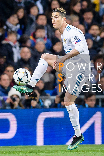 Cristiano Ronaldo of Real Madrid in action during the UEFA Champions League 2017-18 quarter-finals (2nd leg) match between Real Madrid and Juventus at Estadio Santiago Bernabeu on 11 April 2018 in Madrid, Spain. Photo by Diego Souto / Power Sport Images