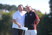 Grant Smith and Brian Green. Final day of the Jennian Homes Charles Tour / Brian Green Property Group New Zealand Super 6s at Manawatu Golf Club in Palmerston North, New Zealand on Sunday, 8 March 2020. Photo: Dave Lintott / lintottphoto.co.nz