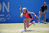 June 16th 2017, Nottingham, England;WTA Aegon Nottingham Open Tennis Tournament day 7;  Concentration from Johanna Konta of Great Britain; Konta won 6-3, 7-5 to reach the semi finals