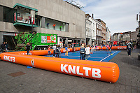 April 17, 2015, Netherlands, Den Bosch, Maaspoort, Fedcup Netherlands-Australia,  Streettennis<br /> Photo: Tennisimages/Henk Koster