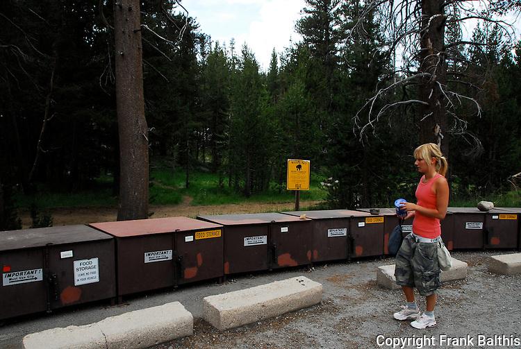trailhead food storage, black bear danger, Yosemite National Park