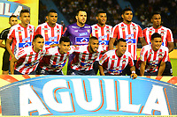 BARRANQUILLA-COLOMBIA, 12-05-2019: Jugadores de Atlético Junior, posan para una foto, antes de partido entre Atlético Junior y Atlético Nacional, de la fecha 1 de los cuadrangulares semifinales por la Liga Águila I 2019, jugado en el estadio Metropolitano Roberto Meléndez de la ciudad de Barranquilla. / Players of Atletico Junior, pose for a photo, prior a match between Atletico Junior and Atletico Nacional, of the 1st date of the semifinals quarters for the Aguila Leguaje I 2019 played at the Metropolitano Roberto Melendez Stadium in Barranquilla city, Photo: VizzorImage / Alfonso Cervantes / Cont.