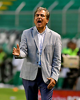 PALMIRA-COLOMBIA, 03-03-2019: Jorge Luis Pinto, técnico de Millonarios durante partido de la fecha 8 entre Deportivo Cali y Millonarios, por la Liga Aguila I 2019, jugado en el estadio Deportivo Cali (Palmaseca) en la ciudad de Palmira. / Jorge Luis Pinto, coach of Millonarios during a match of the 8th date between Deportivo Cali and Millonarios, for the Liga Aguila I 2019, at the Deportivo Cali (Palmaseca) stadium in Palmira city. Photo: VizzorImage  / Nelson Ríos / Cont.