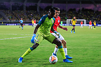 PEREIRA, COLOMBIA - JANUARY 18: Chile's Pablo Aranguiz, (R) fights for the ball  against Ecuador's goalkeeper Wellintong Ramirez during their CONMEBOL Preolimpico soccer game at the Hernan Ramirez Villegas Stadium on January 18, 2020 in Pereira, Colombia. (Photo by Daniel Munoz/VIEW press/Getty Images)
