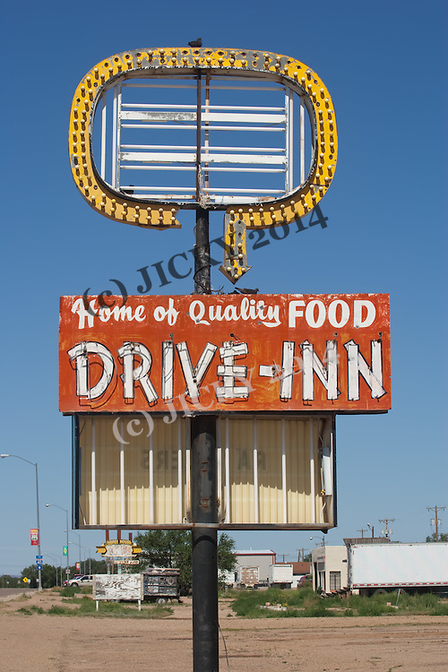 Route 66 - old Drive Inn sign