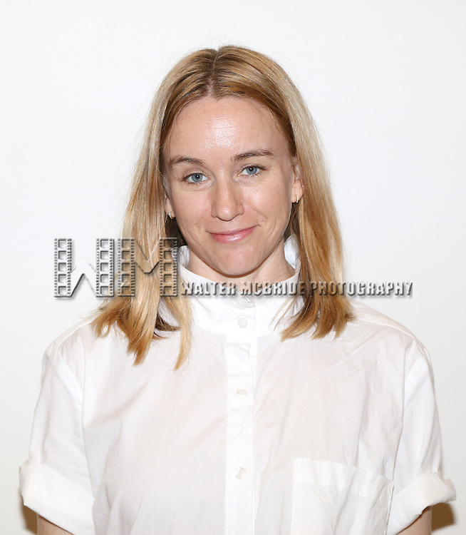 Emily Case McDonnell attends the first day rehearsal for the New Group production of 'Mercury Fur' at the New 42nd Street Studios on July 6, 2015 in New York City.