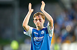 St Johnstone v Eskisehirspor...26.07.12  Europa League Qualifyer.Liam Crag applauds the fans.Picture by Graeme Hart..Copyright Perthshire Picture Agency.Tel: 01738 623350  Mobile: 07990 594431