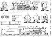 Scale drawing of generic K-36.<br /> D&amp;RGW