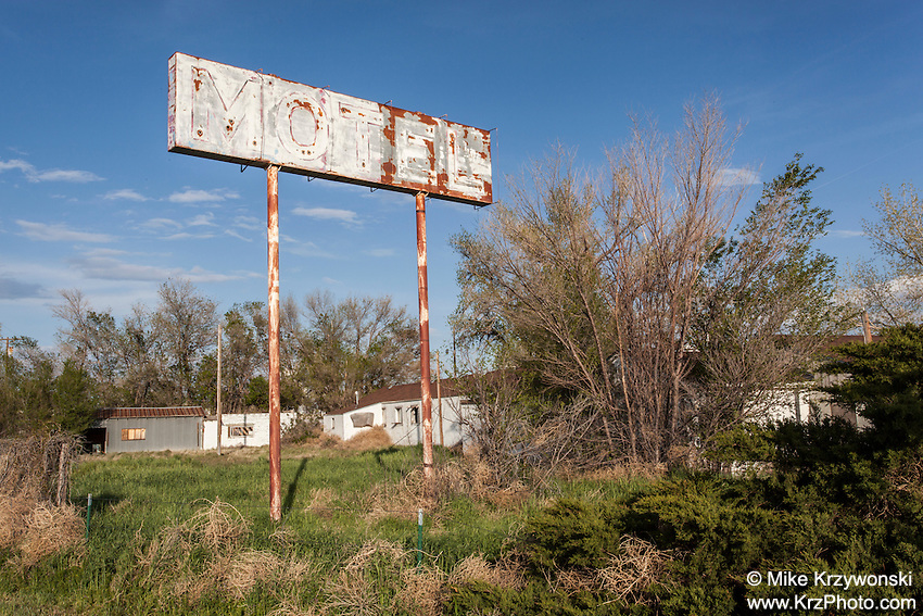 Abandoned Prairie Lodge Motel in Roggen, CO