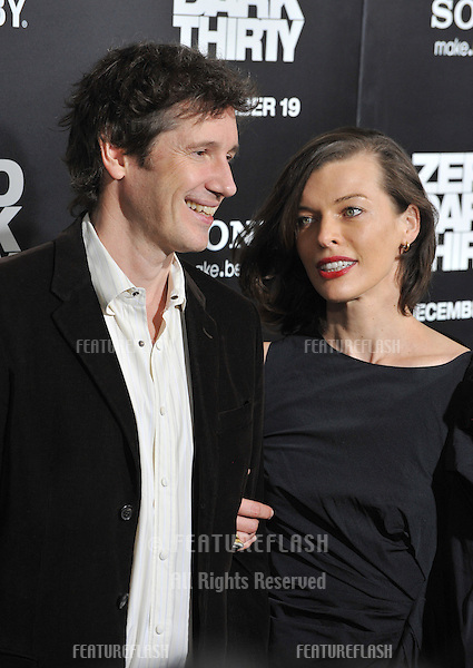 "Milla Jovovich & husband Paul W.S. Anderson at the premiere of ""Zero Dark Thirty"" at the Dolby Theatre, Hollywood..December 10, 2012  Los Angeles, CA.Picture: Paul Smith / Featureflash"