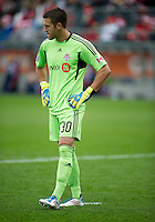 22 October 2011: Toronto FC goalkeeper Milos Kocic #30 in action during a game between the New England Revolution and Toronto FC at BMO Field in Toronto..The game ended in a 2-2 draw.