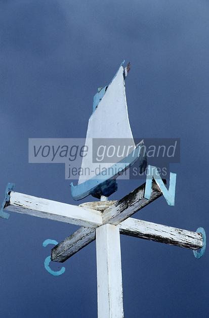 Europe/France/Aquitaine/33/Gironde/Bassin d'Arcachon/Gujan-Mestras: Détail d'une girouette au Port de Laros