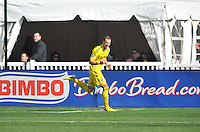 Josh Williams (3) of the Columbus Crew celebrates his score in the 15th minute of the game. The Columbus Crew defeated D.C. United 2-1 ,at RFK Stadium, Saturday March 23,2013.
