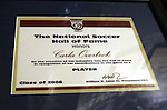 28 August 2006: The plaque presented to 2006 inductee Carla Overbeck. The National Soccer Hall of Fame Induction Ceremony was held at the National Soccer Hall of Fame in Oneonta, New York.