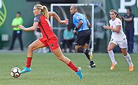 Portland, OR - Wednesday June 28, 2017: Allie Long during a regular season National Women's Soccer League (NWSL) match between the Portland Thorns FC and FC Kansas City at Providence Park.