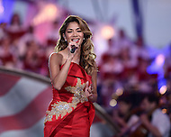 "Washington, DC - July 3, 2015: Honolulu native Nicole Scherzinger performs during the dress rehearsal for the 35th annual ""A Capitol Fourth"" concert on the west lawn of the U.S. Capitol building July 3, 2015. Scherzinger has worked with The Black Eyed Peas, Busta Rhymes and Timberland.  (Photo by Don Baxter/Media Images International)"