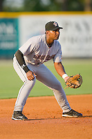Third baseman Jhonny Medrano #40 of the Greeneville Astros on defense against the Burlington Royals at Burlington Athletic Stadium June22, 2010, in Burlington, North Carolina.  Photo by Brian Westerholt / Four Seam Images