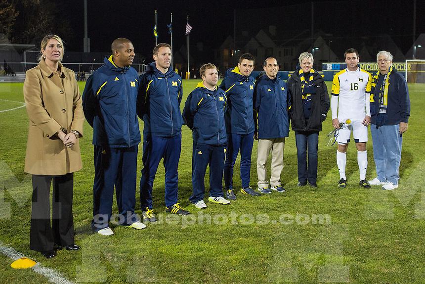 The University of Michigan men's soccer team beat Valparaiso, 1-0, at the UM Soccer Complex in Ann Arbor, Mich., on November 4, 2013.