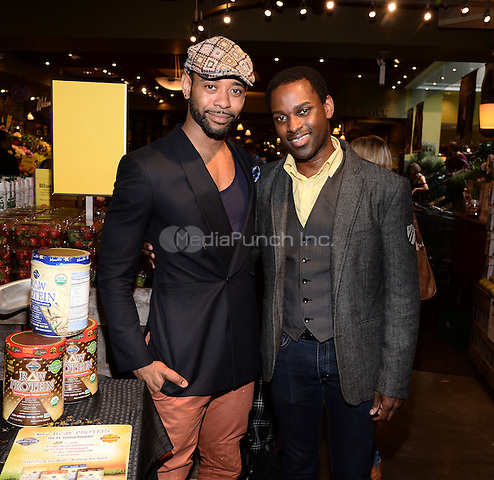 NEW YORK, NY - MAY 12, 2014: Actor James Brown lll and Actor Arbender Robinson attend Garden of Life's Product Presentation at the Whole Foods Market Columbus Circle  in New York City  on May 12,  2014  © RTNPluvious/MediaPunch