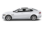 Car driver side profile view of a 2019 Jaguar XE  Base 4 Door Sedan