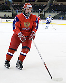 Andrey Sergeev (Russia - 11) - Russia defeated Finland 4-0 at the Urban Plains Center in Fargo, North Dakota, on Friday, April 17, 2009, in their semi-final match during the 2009 World Under 18 Championship.