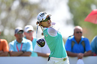 PATTAYA, THAILAND - FEBRUARY 22: Minjee Lee of Australia on the 18th tee during the second round of the Honda LPGA Thailand 2019 at Siam Country Club Pattaya (Old Course), Pattaya, Thailand on February 22, 2019.<br /> .<br /> .<br /> .<br /> (Photo by: Naratip Golf Srisupab/SEALs Sports Images)<br /> .<br /> Any image use must include a mandatory credit line adjacent to the content which should read: Naratip Golf Srisupab/SEALs Sports Images